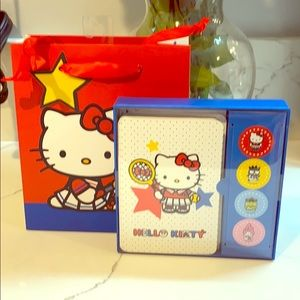 Hello Kitty note card set and bag